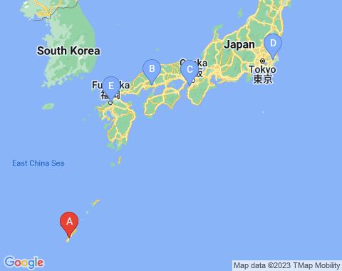 Kaart Okinawa
