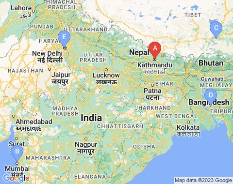Kaart Kathmandu