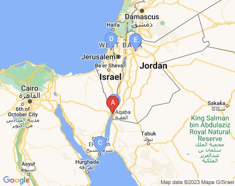 Kaart Eilat