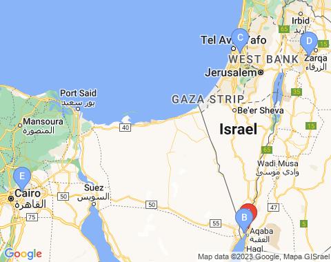 Kaart Aqaba