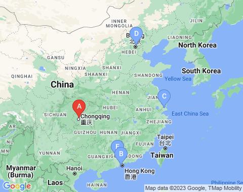 Kaart Chongqing