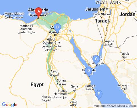 Kaart Alexandrie