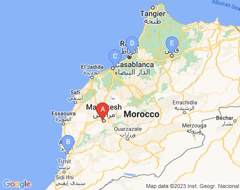 Kaart Marrakech