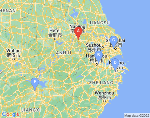 Kaart Nanjing