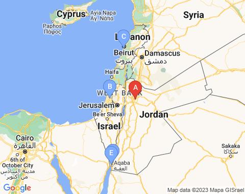 Kaart Amman