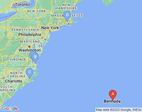 Kaart Bermuda