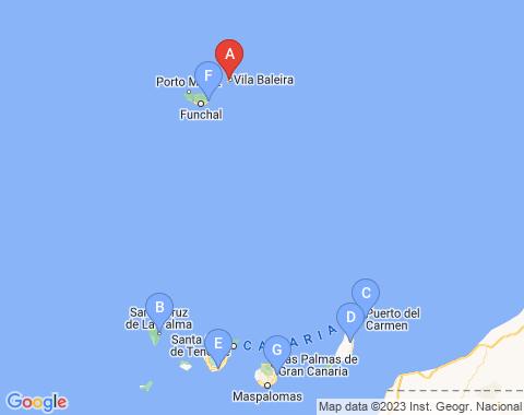 Kaart Porto Santo
