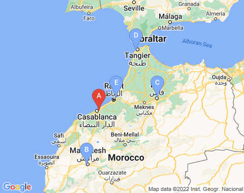 Kaart Casablanca