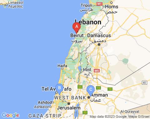 Kaart Beiroet