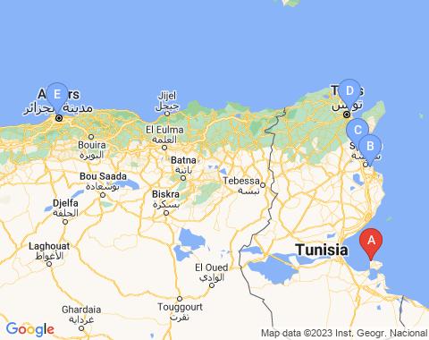 Kaart Djerba