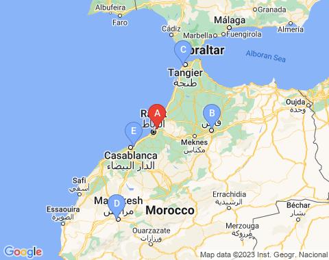 Kaart Rabat