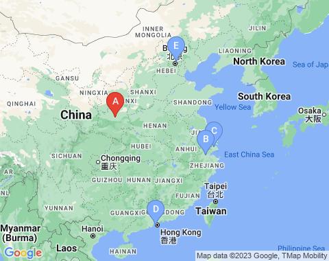 Kaart Xi An