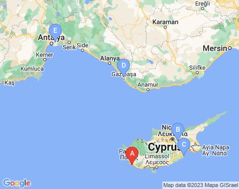 Kaart Paphos