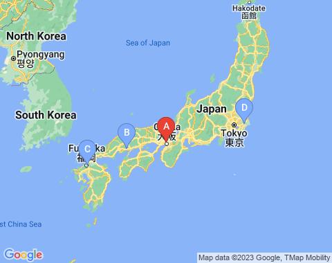 Kaart Osaka