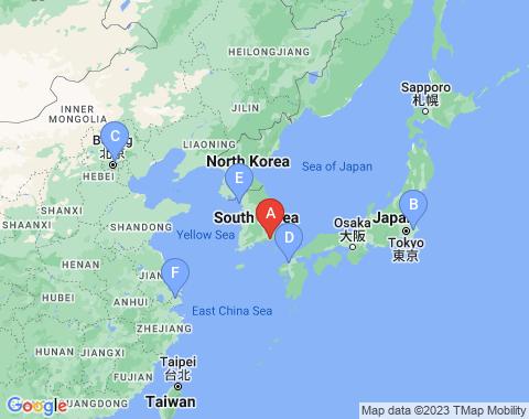 Kaart Busan