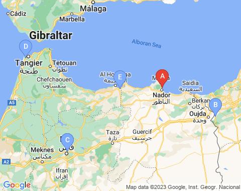 Kaart Nador