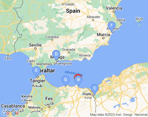 Kaart Melilla
