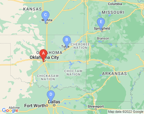 Kaart Oklahoma City