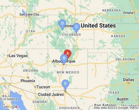 Kaart Santa-Fe