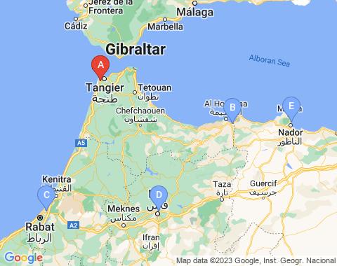 Kaart Tanger