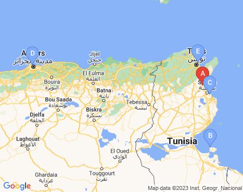 Kaart Enfidha