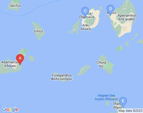 Kaart Milos