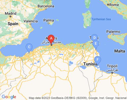 Kaart Algiers