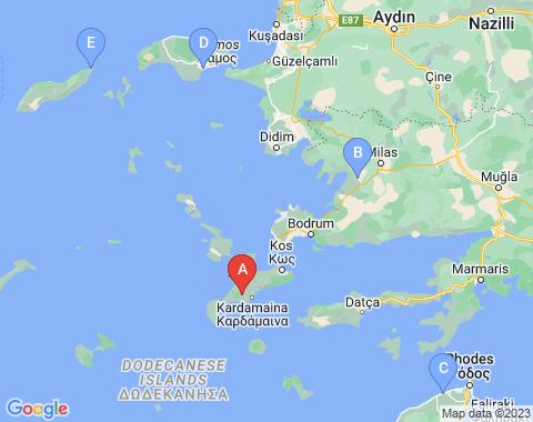 Kaart Kos