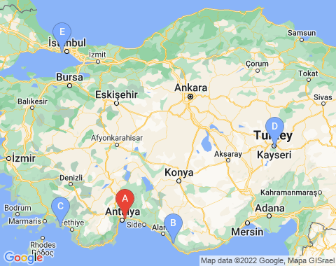 Kaart Antalya