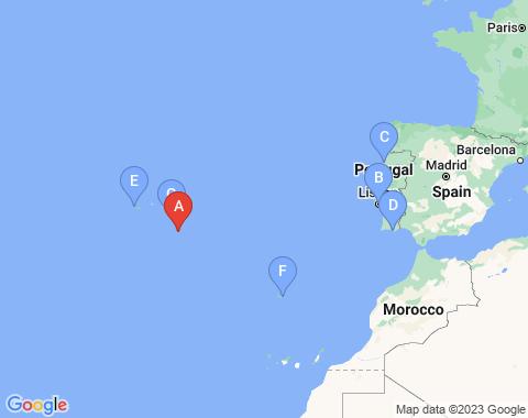 Kaart Santa Maria, Azoren
