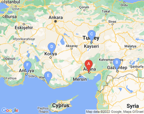 Kaart Adana