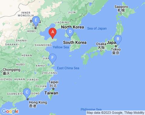 Kaart Yantai