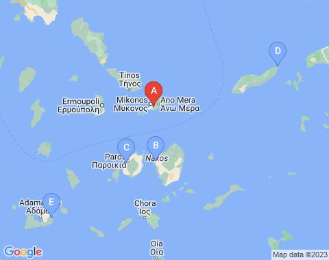 Kaart Mykonos