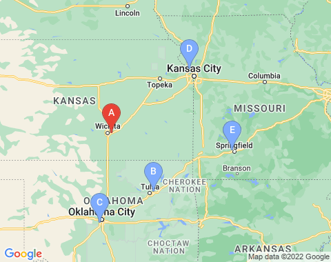 Kaart Wichita