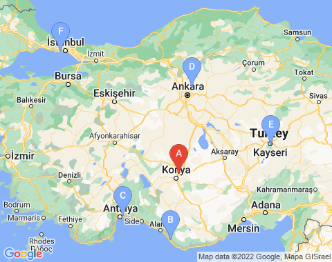 Kaart Konya