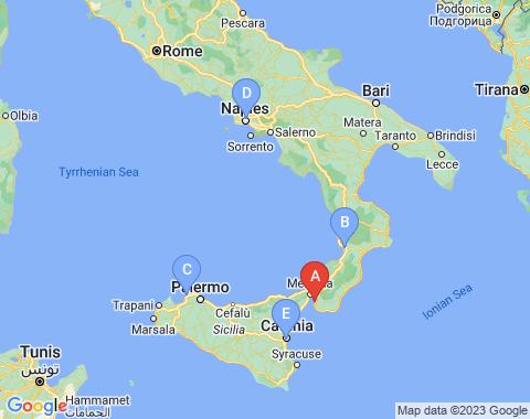 Kaart Reggio Calabria