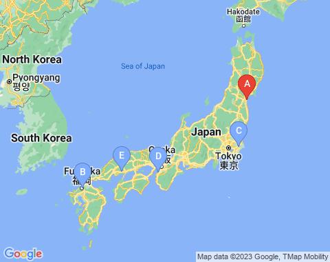Kaart Sendai