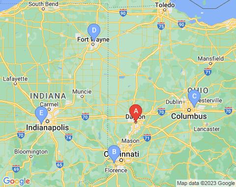 Kaart Dayton