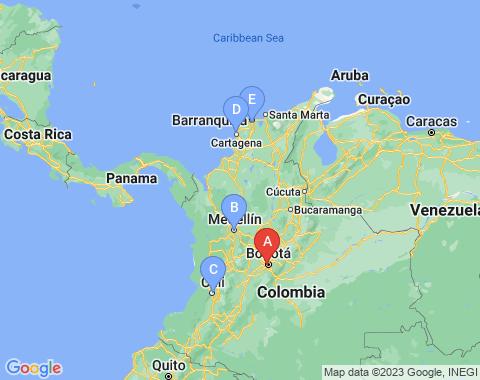 Kaart Bogota