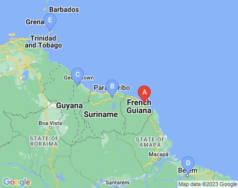 Kaart Cayenne