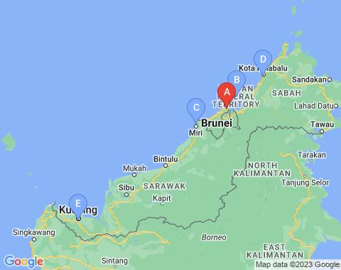 Kaart Brunei