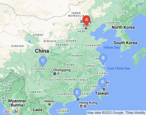 Kaart Beijing