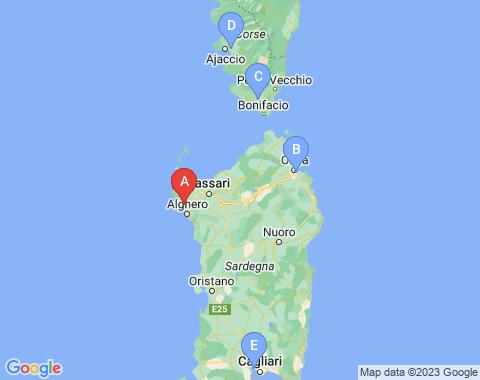 Kaart Alghero