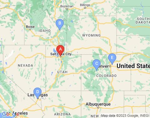 Kaart Salt Lake City