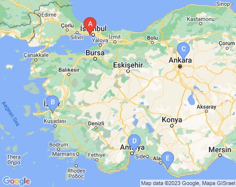 Kaart Istanbul