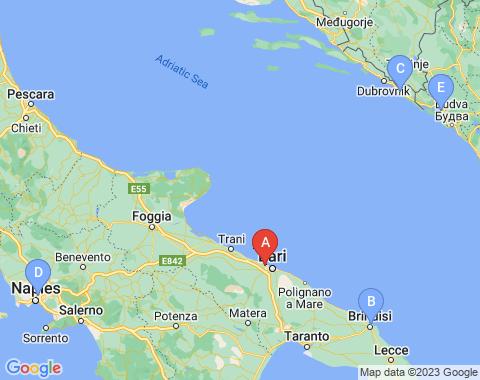 Kaart Bari