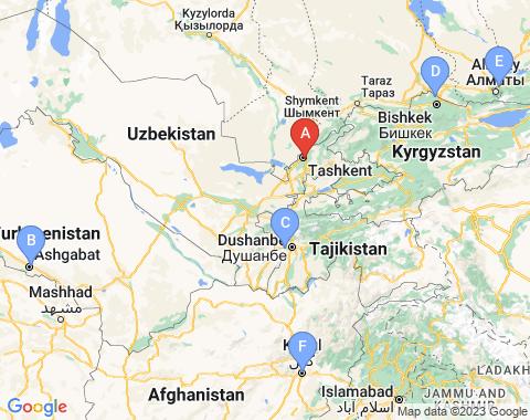 Kaart Tashkent