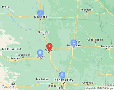 Kaart Omaha