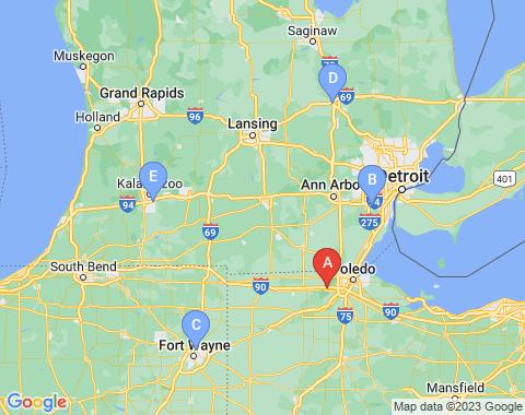 Kaart Toledo