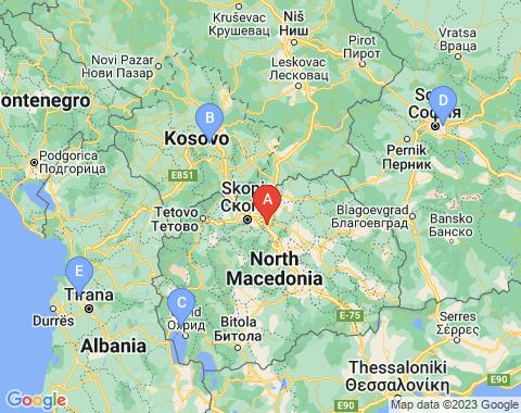Kaart Skopje